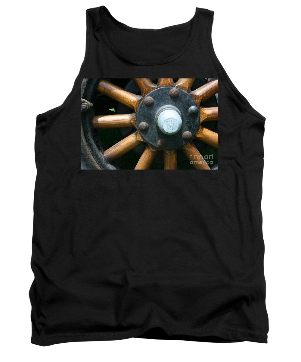 Wagon Tank Top featuring the photograph Ford Wagon Wheel by Dawn Downour