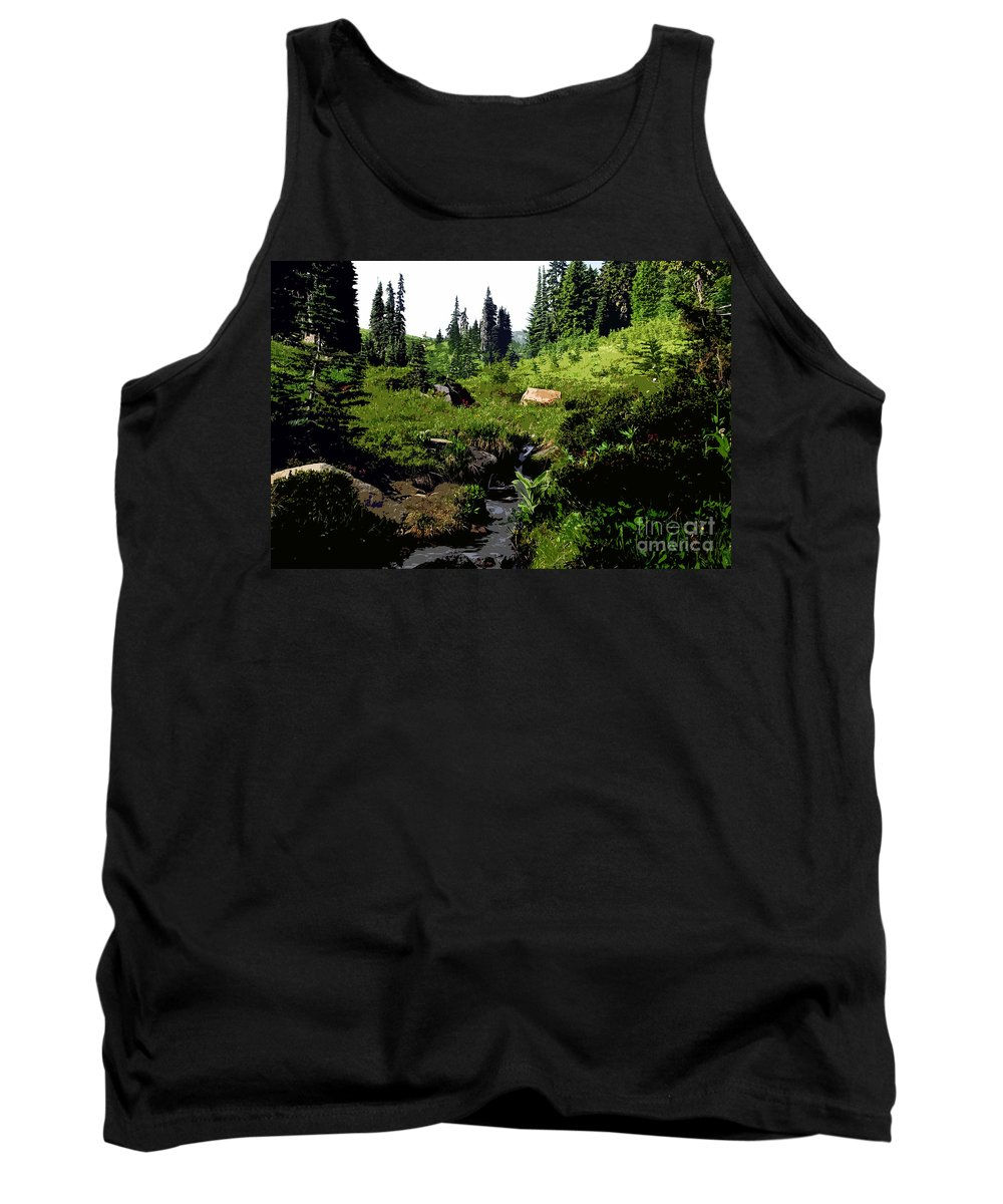 Forest Tank Top featuring the painting Forest by David Lee Thompson