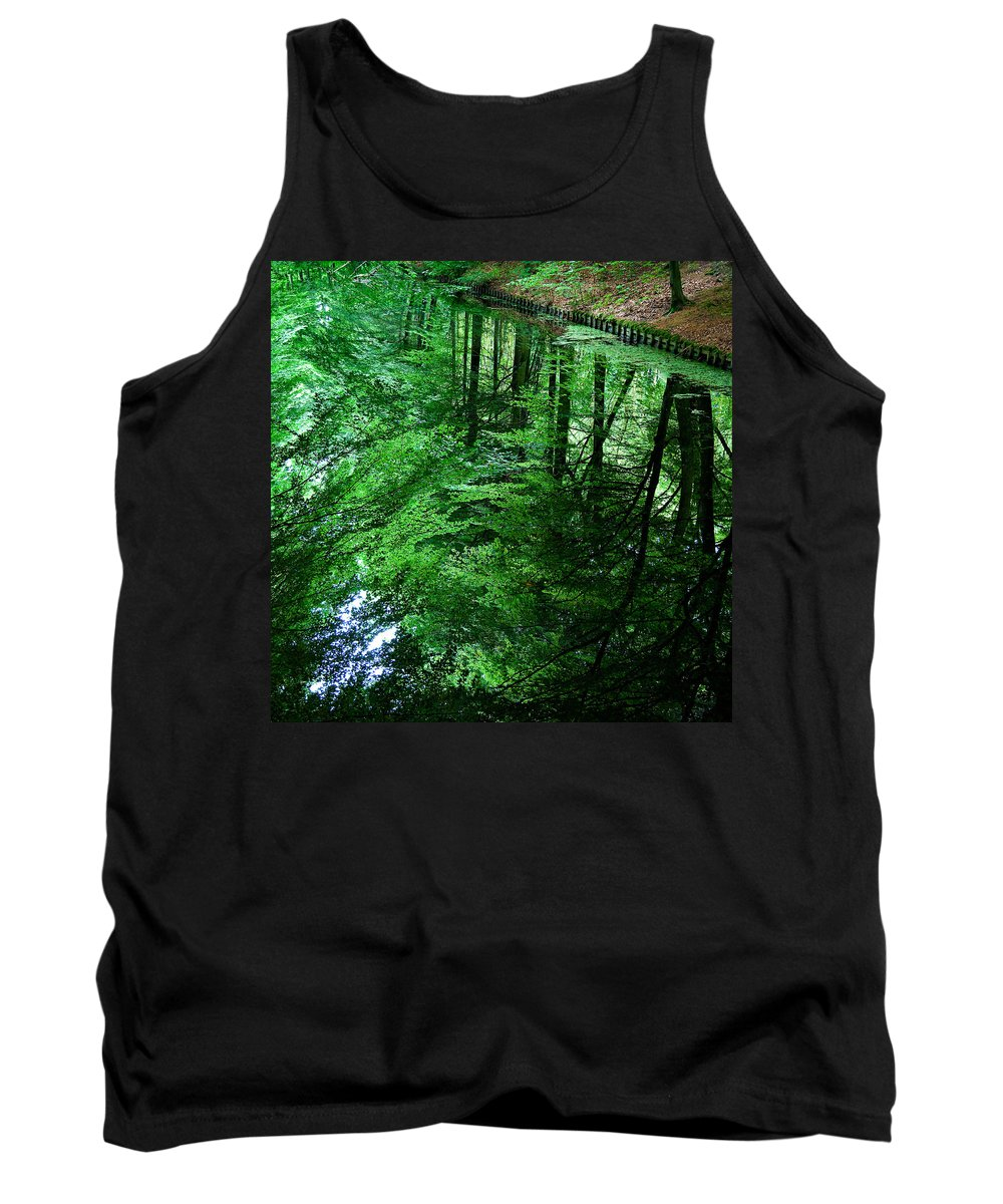 Forest Tank Top featuring the photograph Forest Reflection by Dave Bowman