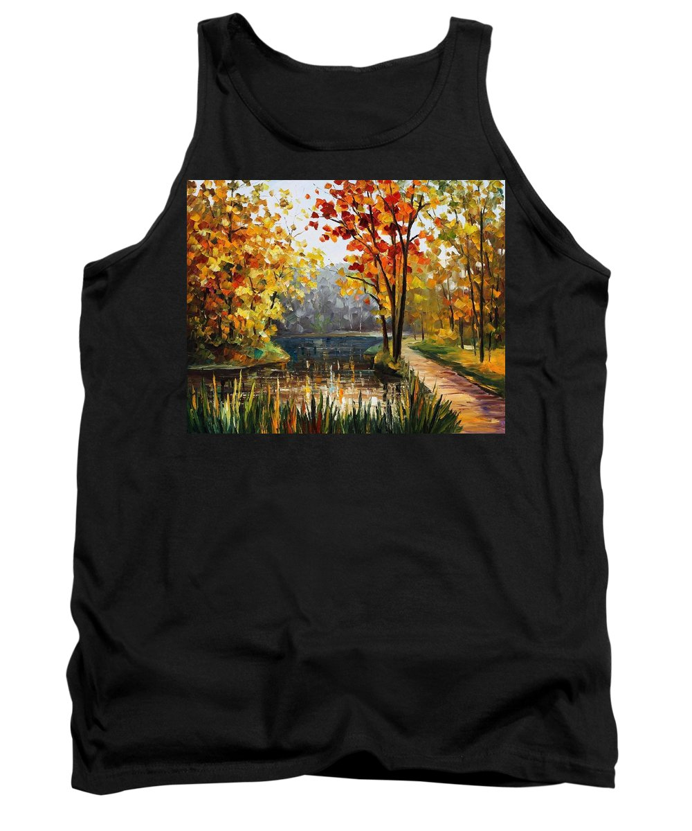 Afremov Tank Top featuring the painting Forest Stream by Leonid Afremov
