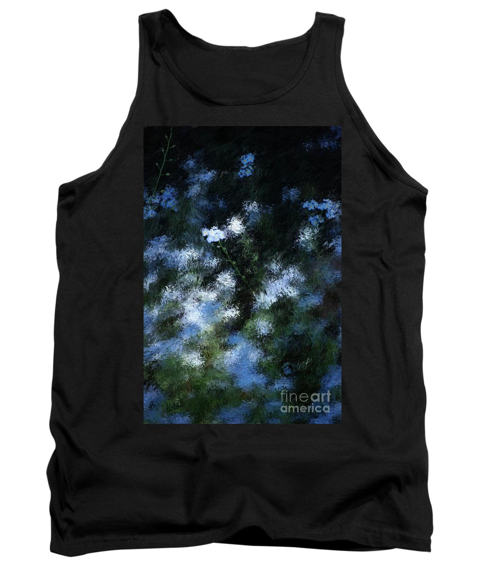 Abstract Tank Top featuring the digital art Forget Me Not by David Lane