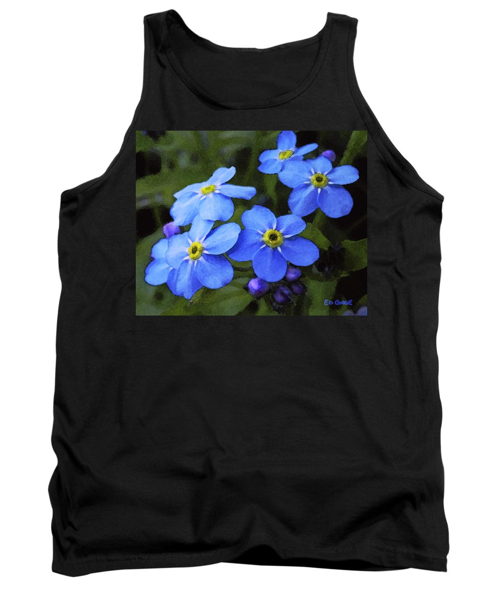 Flowers Tank Top featuring the photograph Forget Me Nots by Ed A Gage