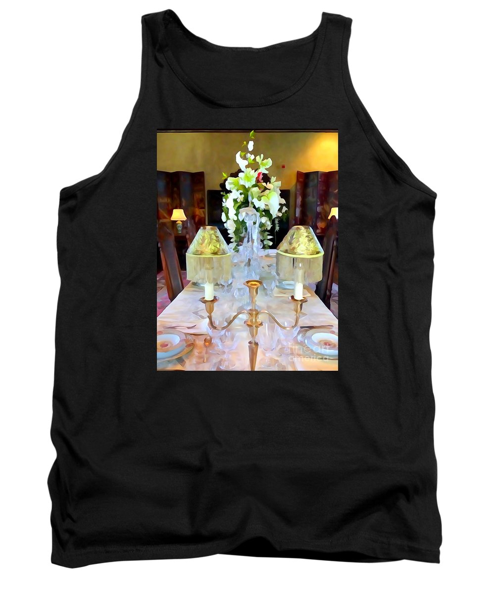 Digital Tank Top featuring the photograph Formal Dining by Ed Weidman