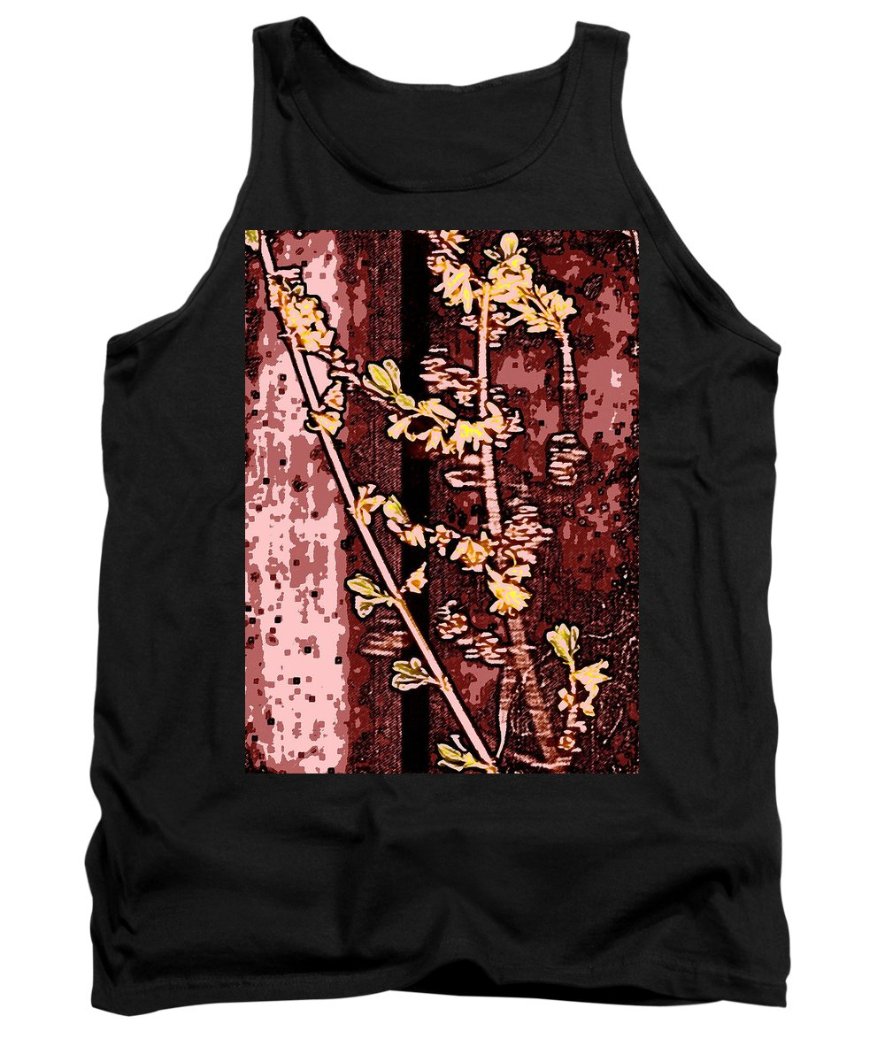 Flower Tank Top featuring the photograph Forsythia Branch by Wayne Potrafka