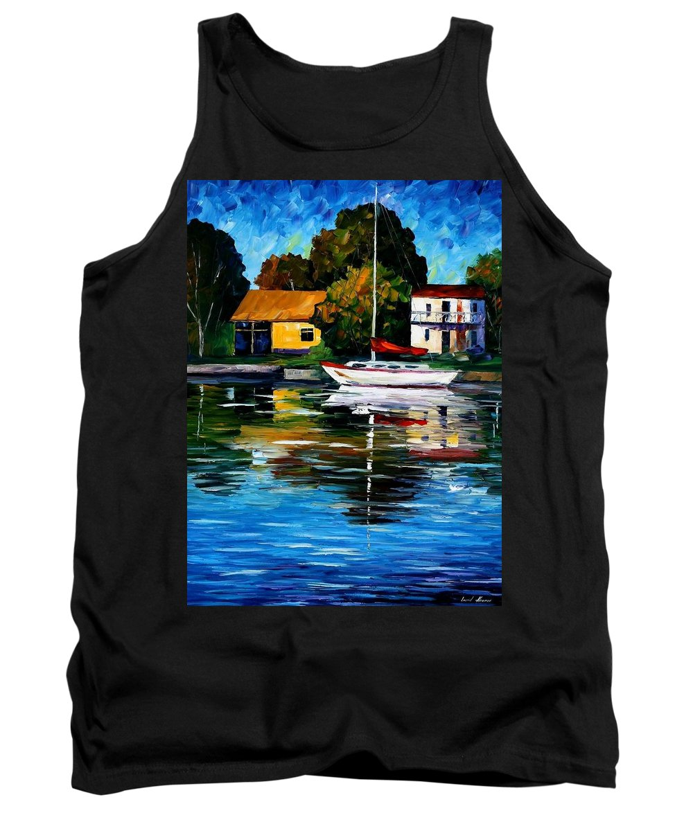 Afremov Tank Top featuring the painting Fort Lauderdale - Florida by Leonid Afremov