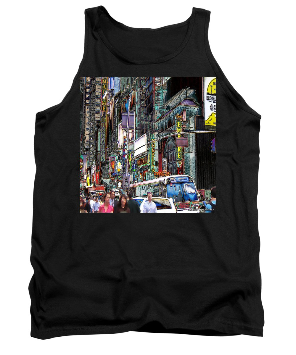 New York City Tank Top featuring the photograph Forty Second And Eighth Ave N Y C by Iowan Stone-Flowers