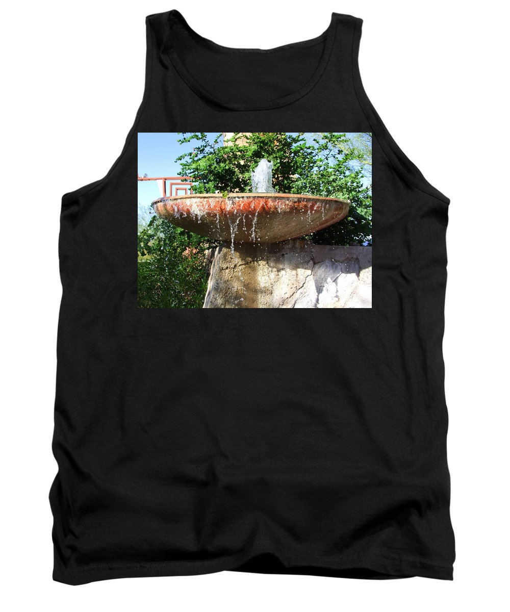 Fountain Tank Top featuring the photograph Fountain At Taliesen by Mary Deal