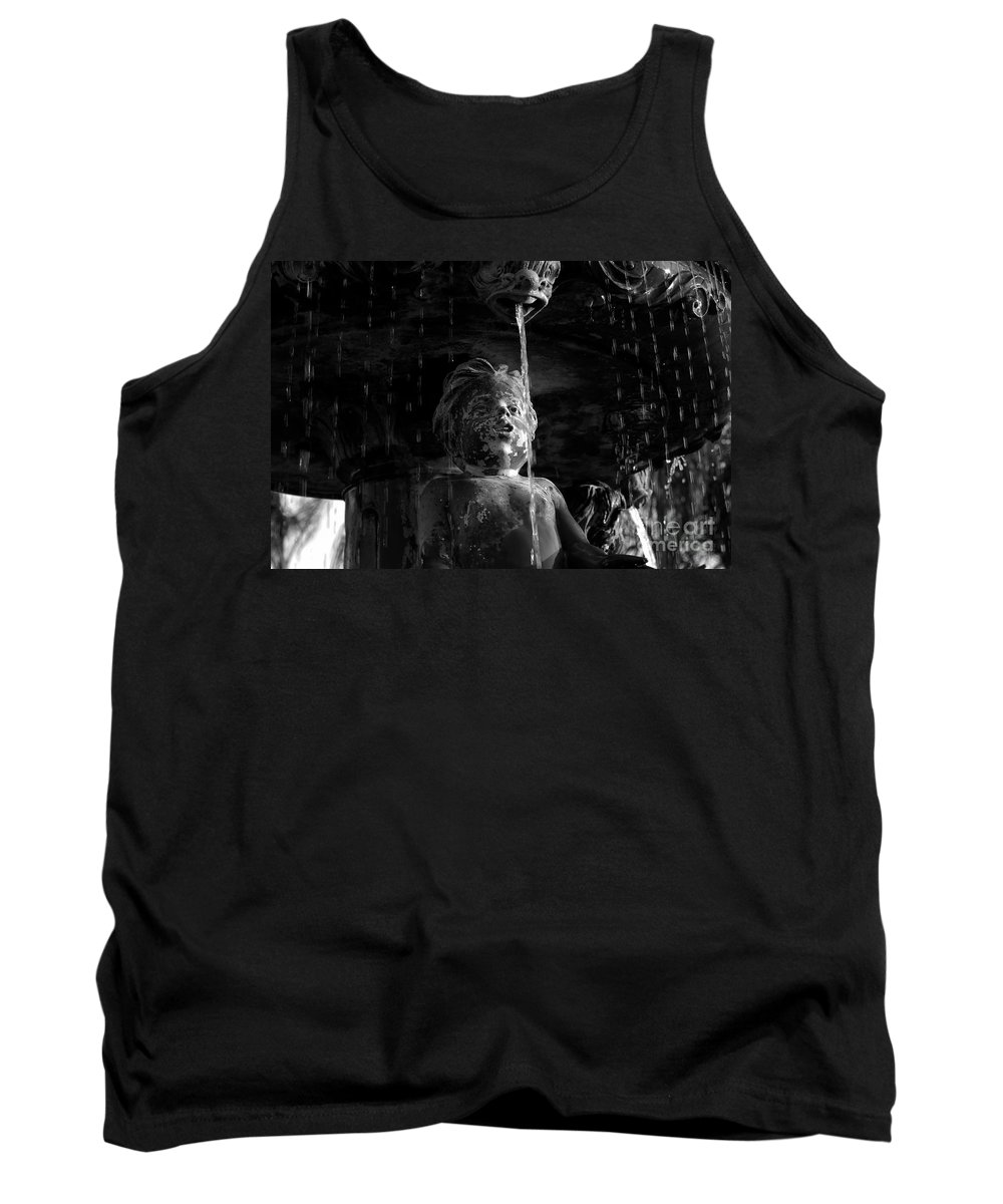 Water Fountain Tank Top featuring the photograph Fountain Child by David Lee Thompson