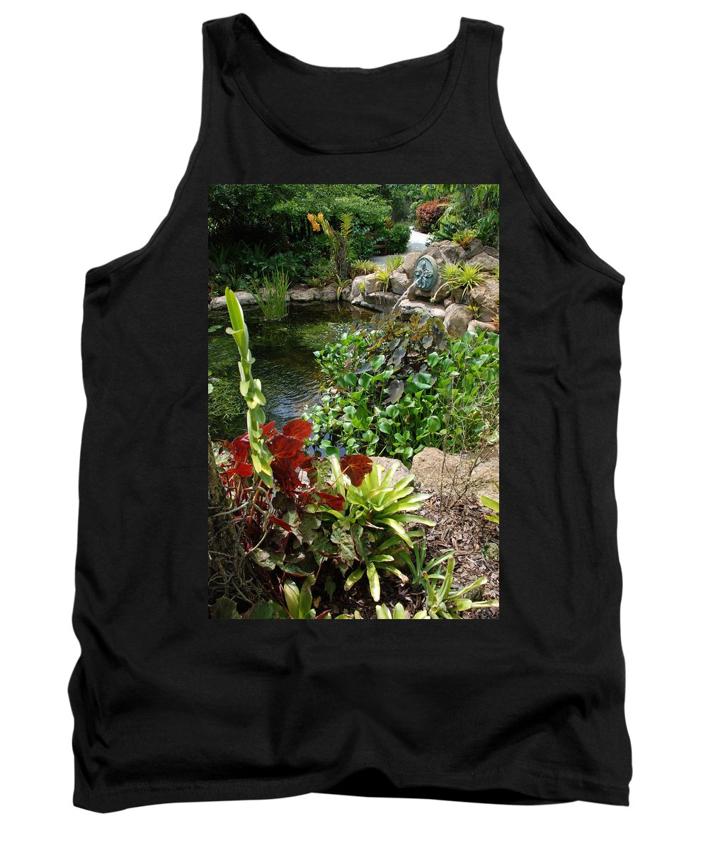 Macro Tank Top featuring the photograph Fountain Flowers by Rob Hans