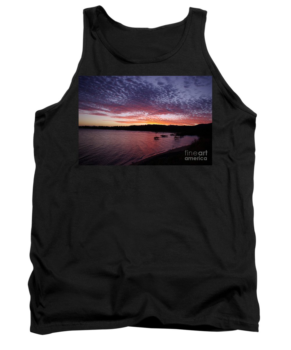 Landscape Tank Top featuring the photograph Four Elements Sunset Sequence 1 Coconuts Qld by Kerryn Madsen - Pietsch