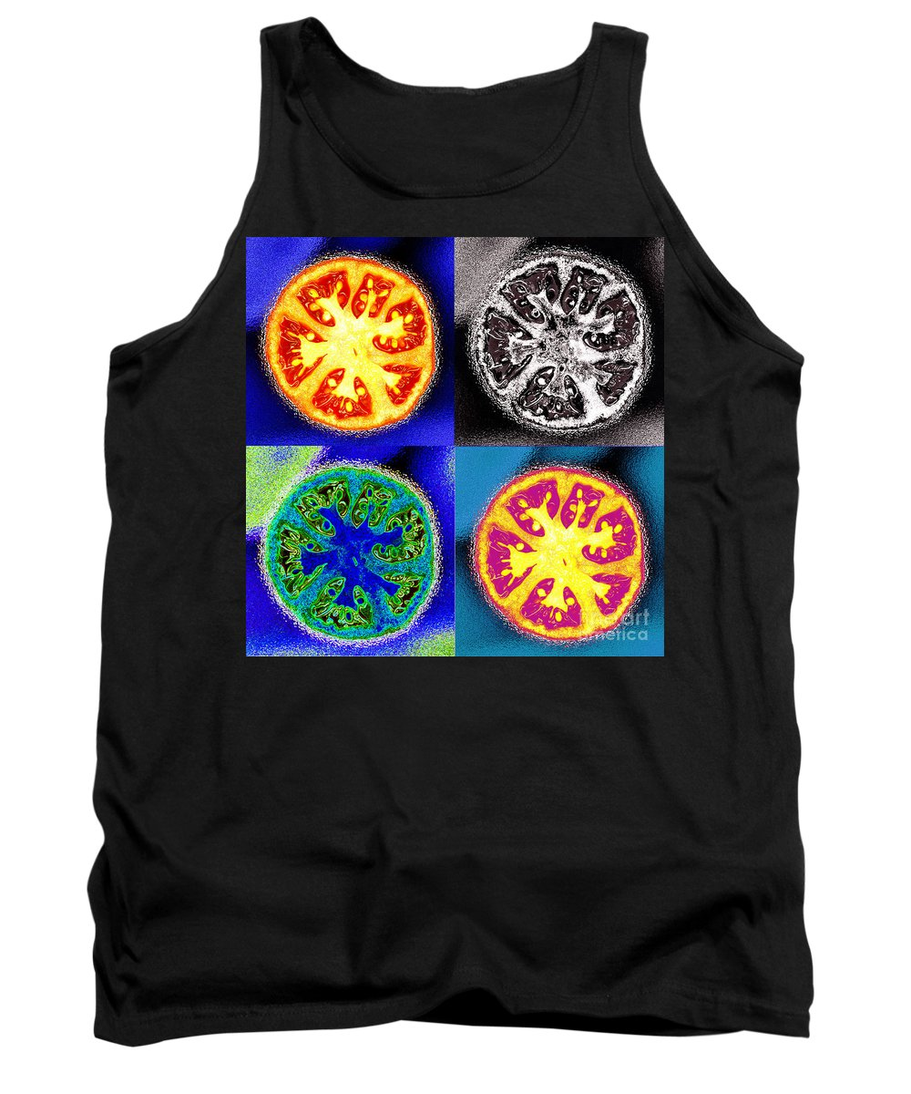 Tomatoes Tank Top featuring the photograph Four Tomatoes by Nancy Mueller