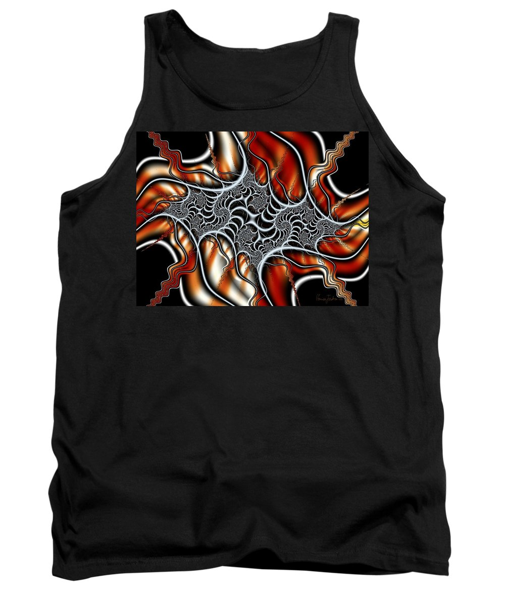 Veins Strings Lines Tank Top featuring the digital art Fractal 3 by Veronica Jackson