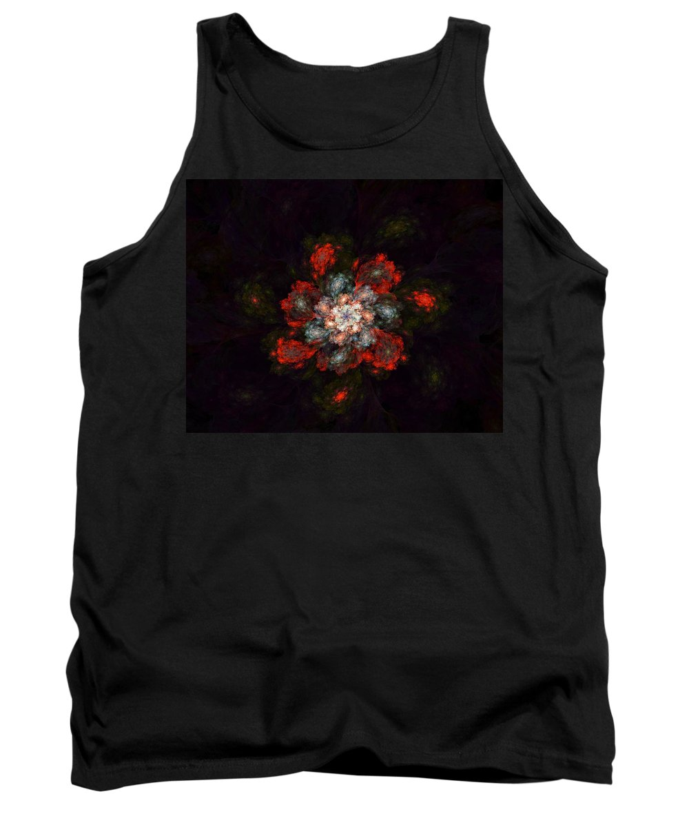 Digital Painting Tank Top featuring the digital art Fractal Floral 02-12-10-a by David Lane