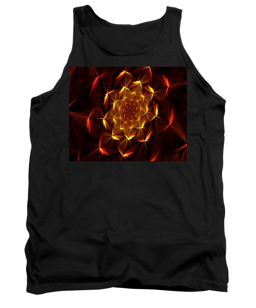 Abstract Tank Top featuring the digital art Fractal Floral 062610a by David Lane