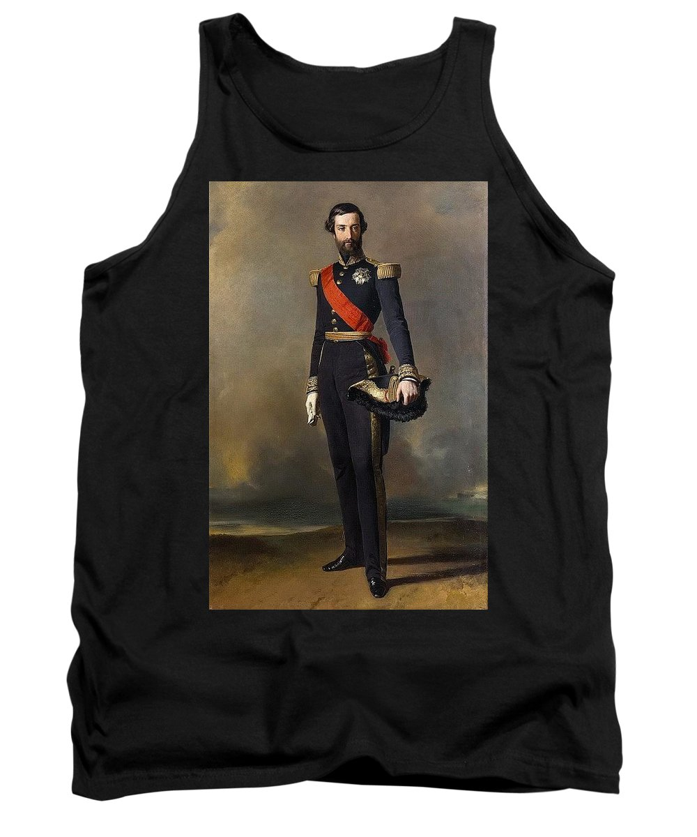 Leg Tank Top featuring the digital art Francois-ferdinand-philippe Dorleans Prince De Joinville Franz Xavier Winterhalter by Eloisa Mannion