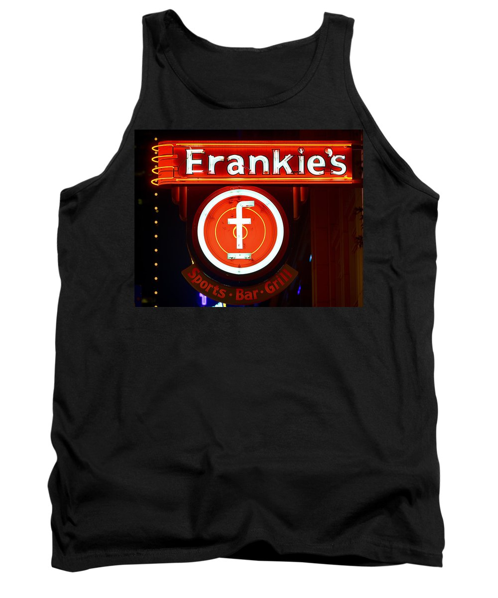 Fort Worth Tank Top featuring the photograph Frankie's Fort Worth by Rospotte Photography