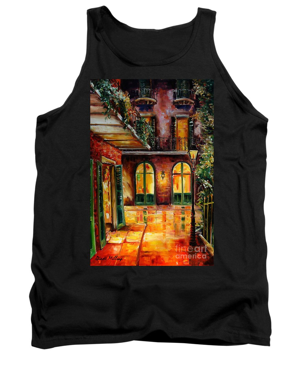 New Orleans Tank Top featuring the painting French Quarter Alley by Diane Millsap