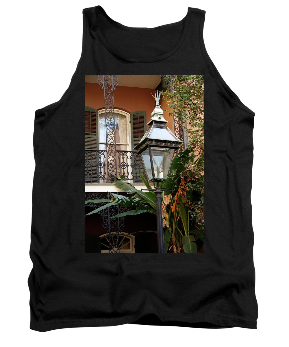 New Orleans Tank Top featuring the photograph French Quarter Courtyard by KG Thienemann
