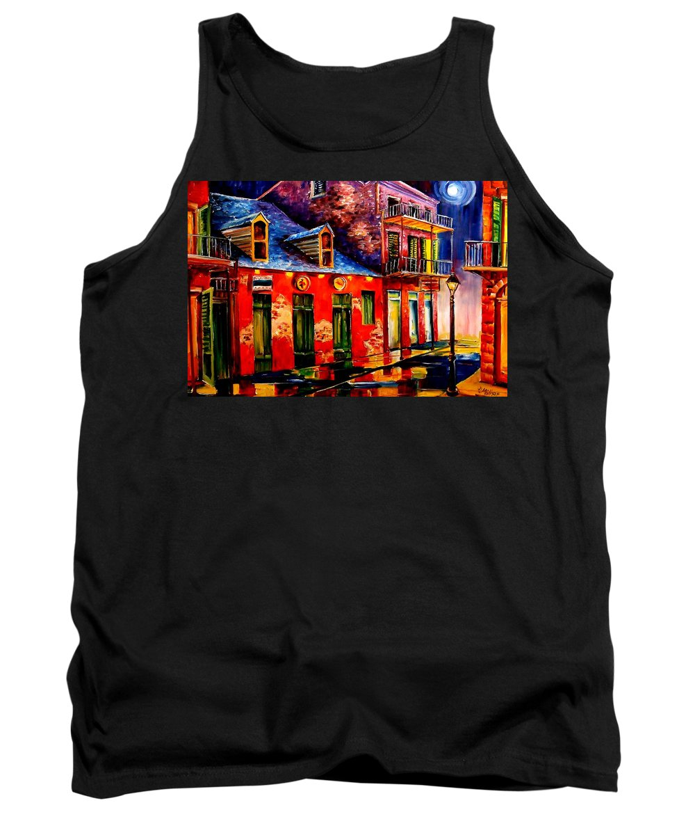 New Orleans Tank Top featuring the painting French Quarter Dazzle by Diane Millsap