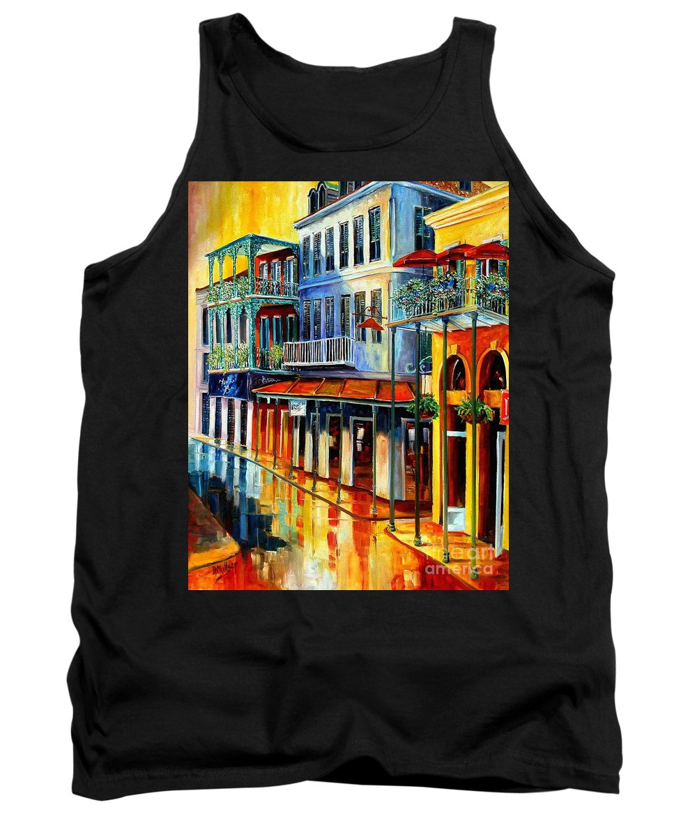 New Orleans Paintins Tank Top featuring the painting French Quarter Sunrise by Diane Millsap