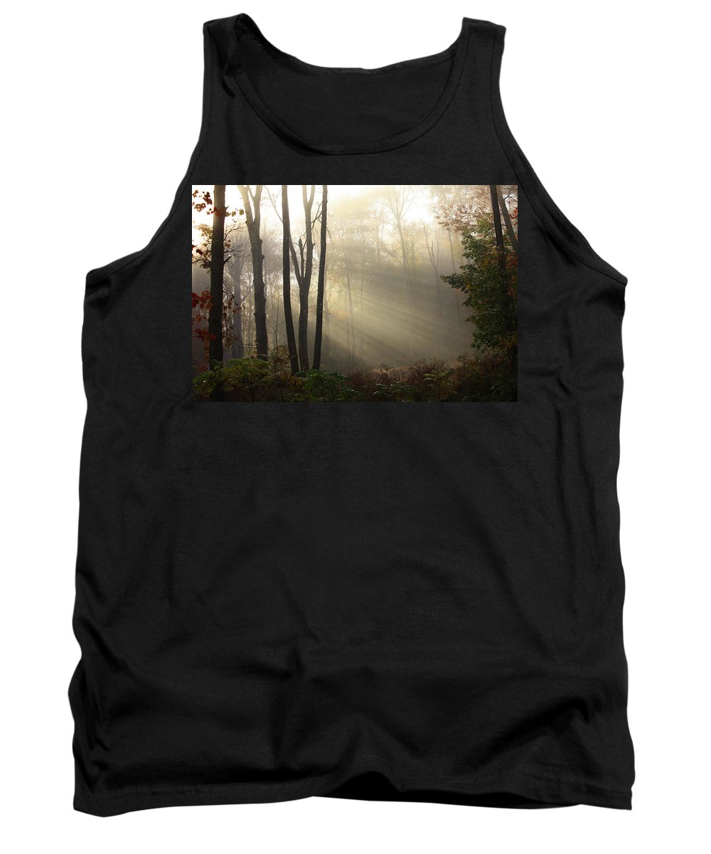 Sunrise Tank Top featuring the photograph From Above by Karol Livote