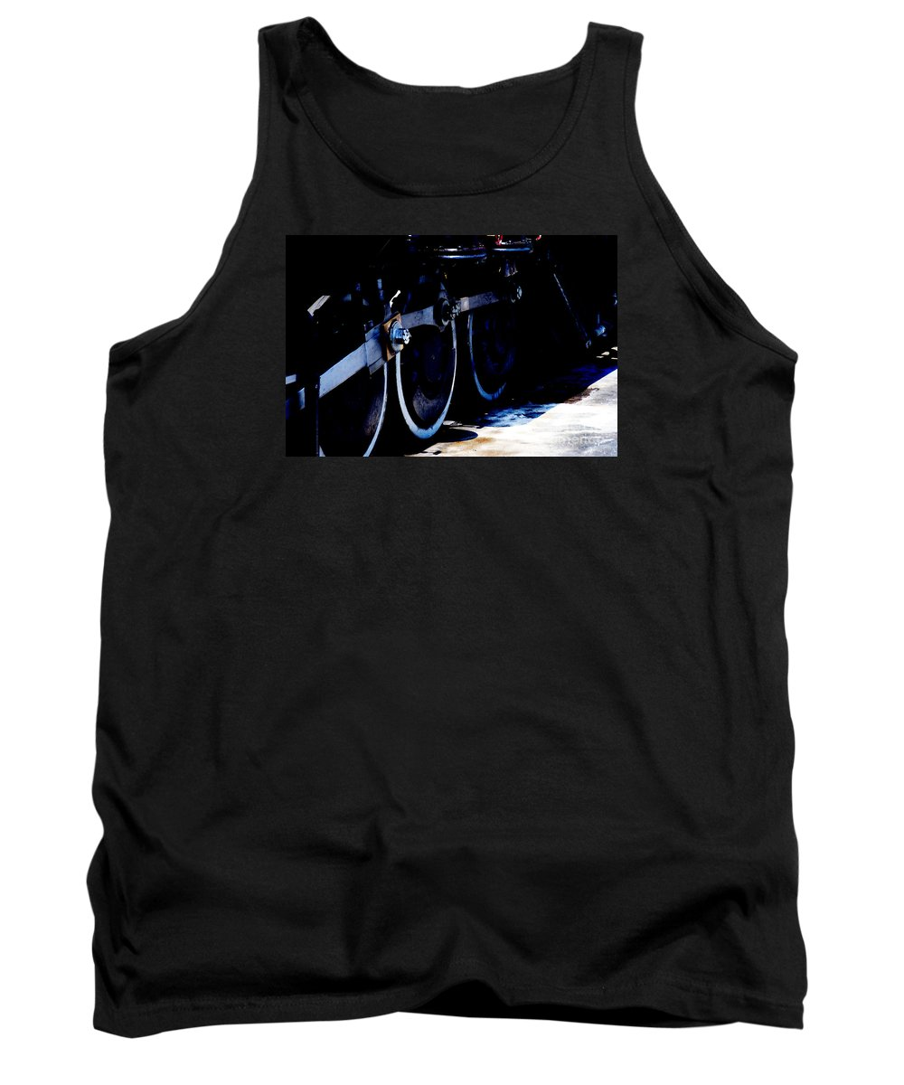 Blue Tank Top featuring the photograph From Ridgway To Durango by Linda Shafer