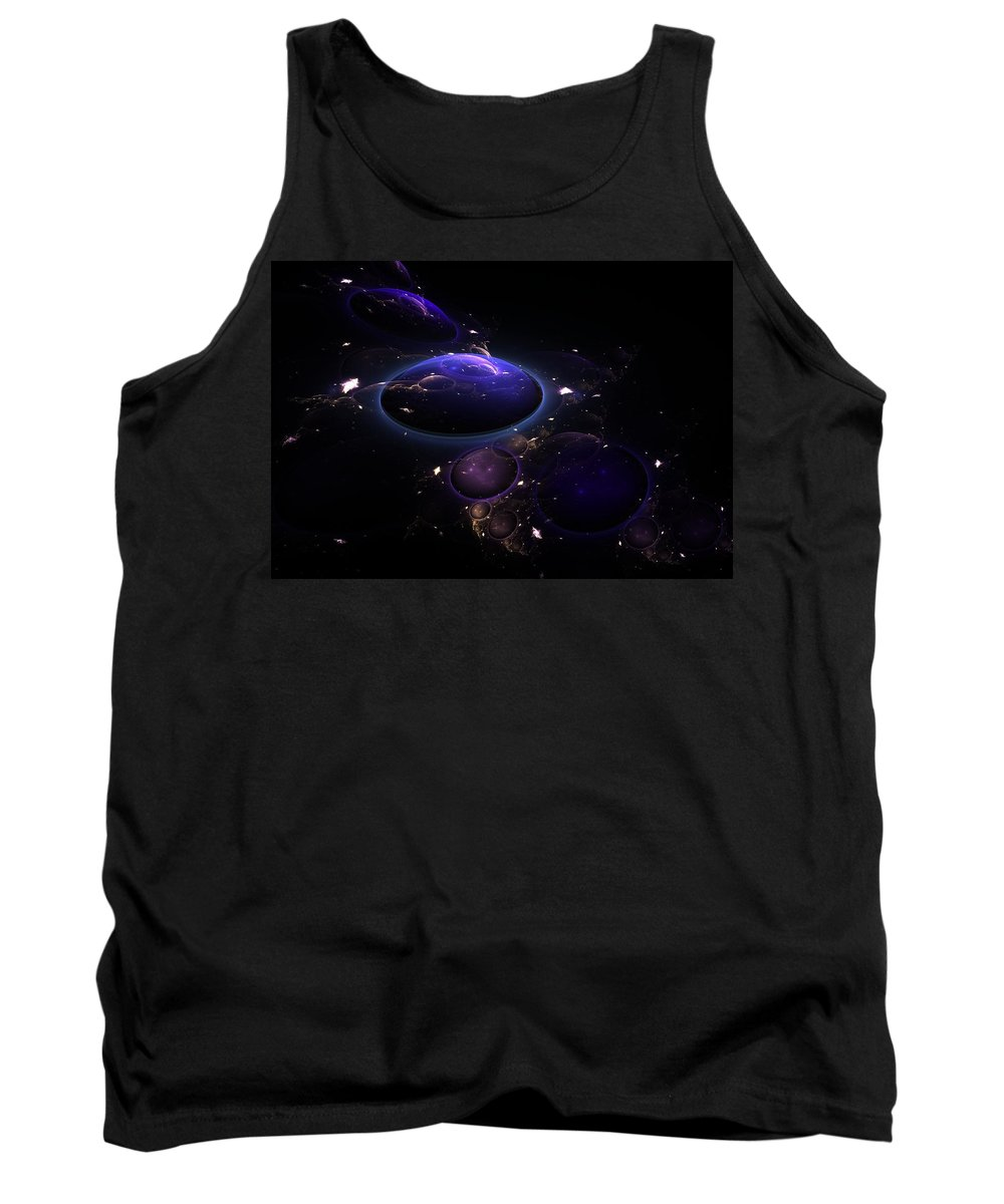 Abstract Tank Top featuring the digital art From The Depths Of Space by Lyle Hatch