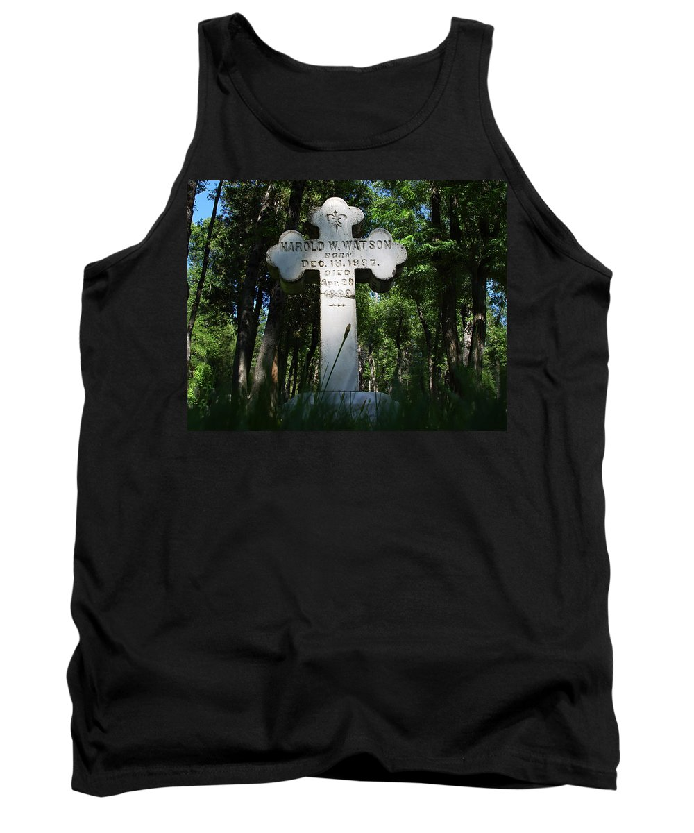 From The Grave Tank Top featuring the photograph From The Grave No4 by Peter Piatt
