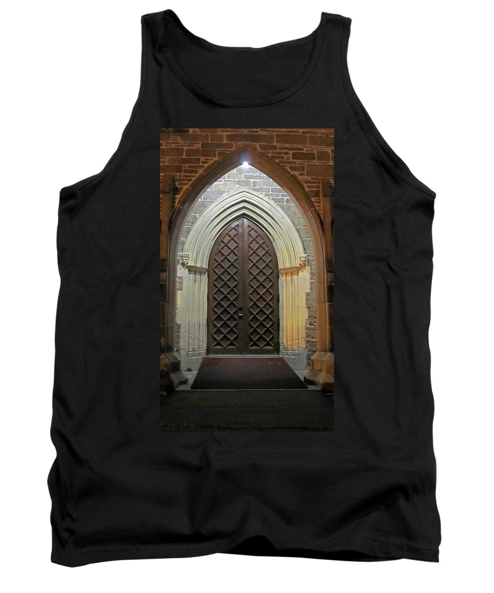 Christ Church Cathedral Fredericton Tank Top featuring the photograph Front Door Christ Church Cathedral 4 by Mark Sellers