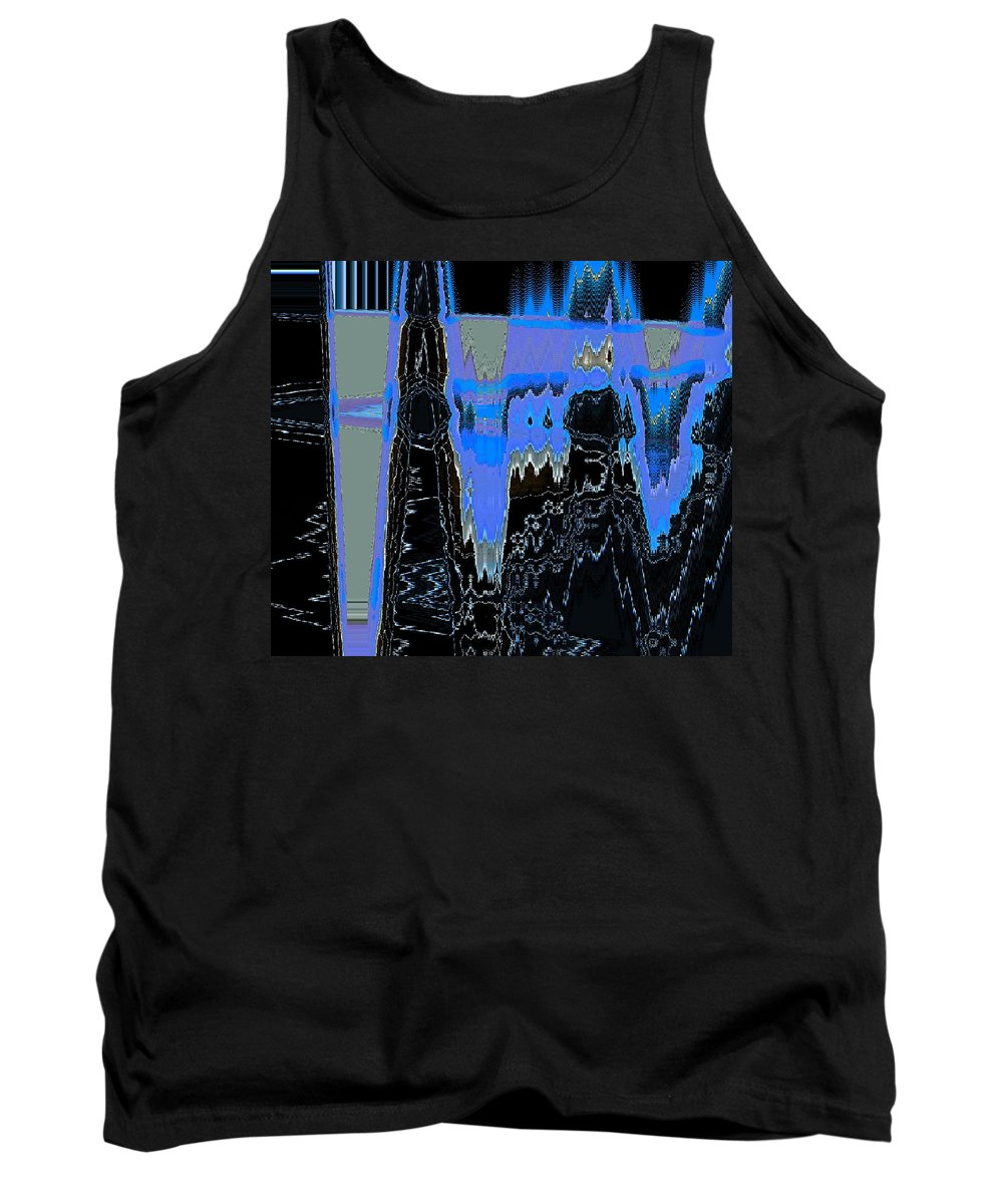 Abstract Tank Top featuring the digital art Frozen Air Conditioner by Lenore Senior