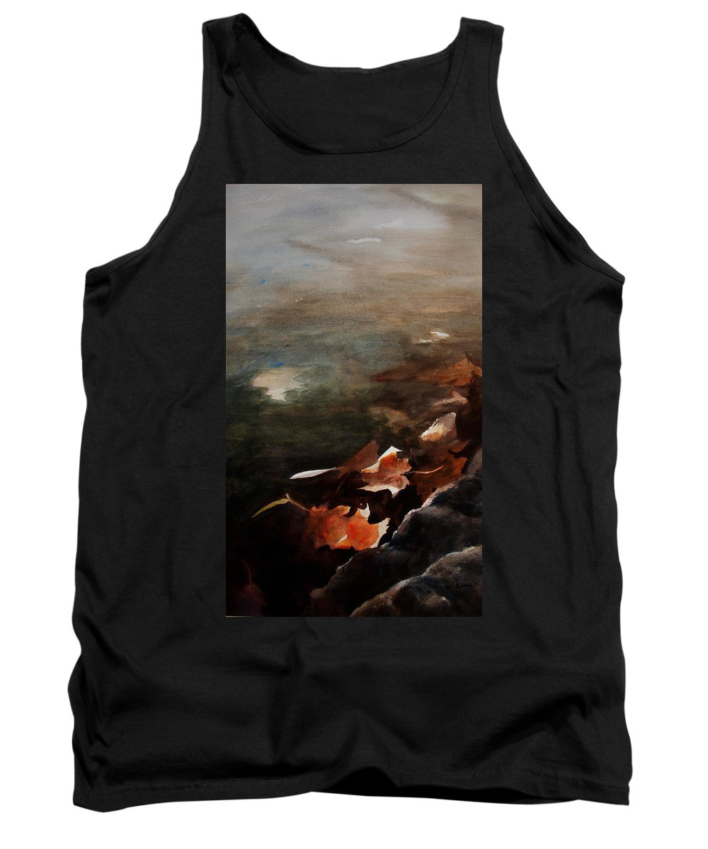 Landscape Tank Top featuring the painting Frozen Memories by Rachel Christine Nowicki