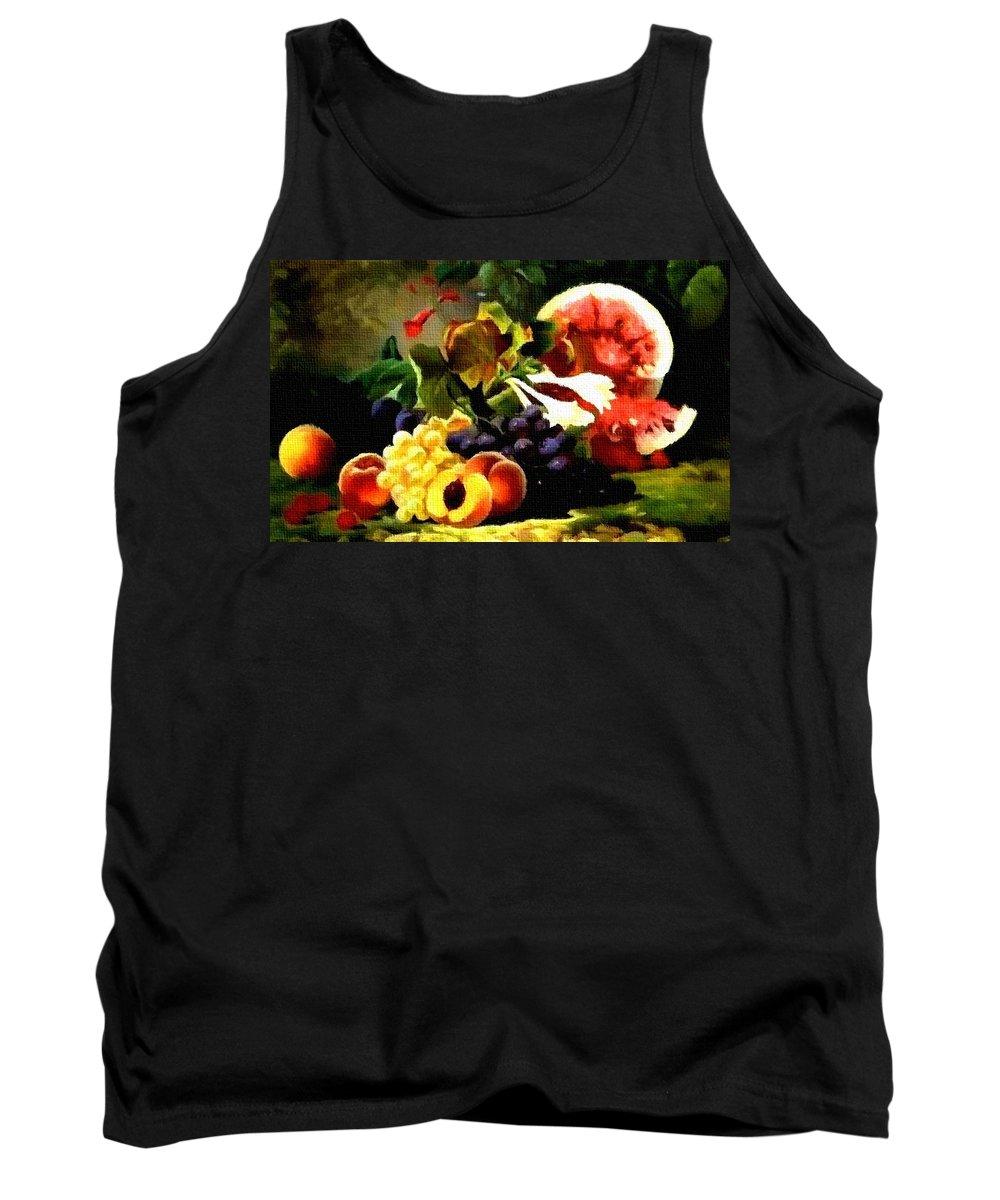 Announcement Tank Top featuring the photograph Fruit Still-life Catus 1 No 1 H B by Gert J Rheeders