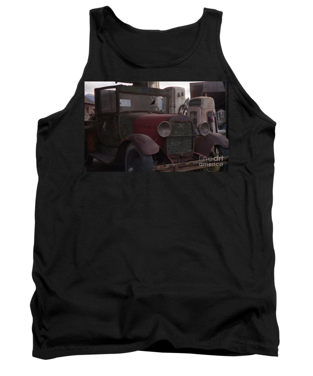 Gas Station Tank Top featuring the photograph Full Service by Richard Rizzo