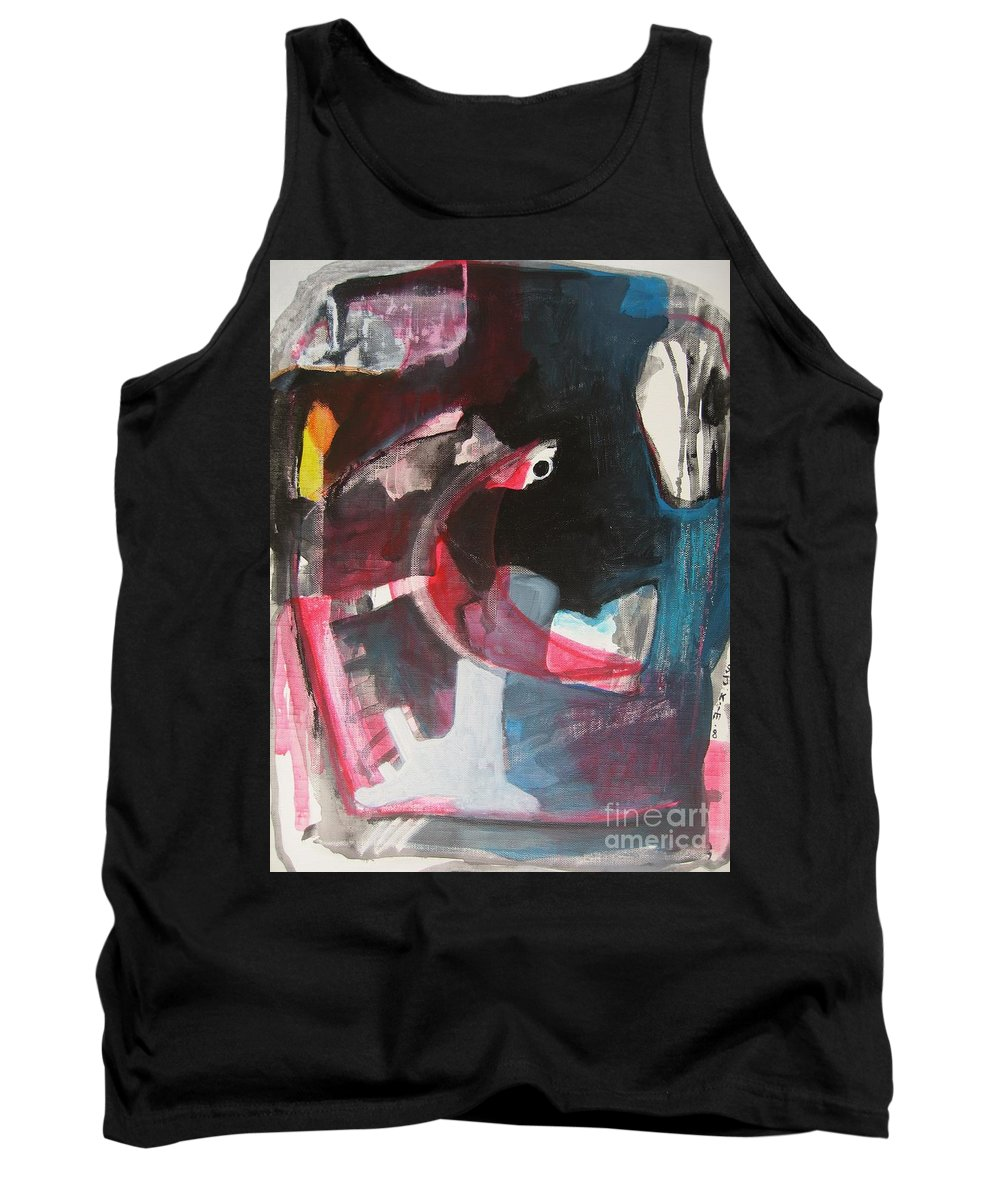 Abstract Paintings Paintings Abstract Art Paintings Tank Top featuring the painting Fumbling With Memory by Seon-Jeong Kim