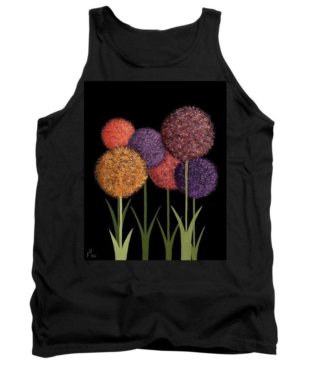 Art Decor Tank Top featuring the painting Fun Colours by Frank Hamilton