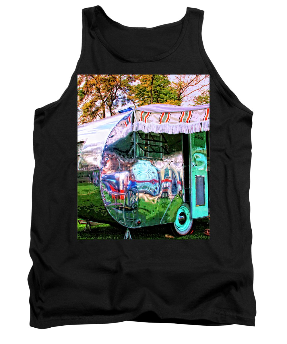 Airstream Tank Top featuring the photograph Fun House Palm Springs by William Dey