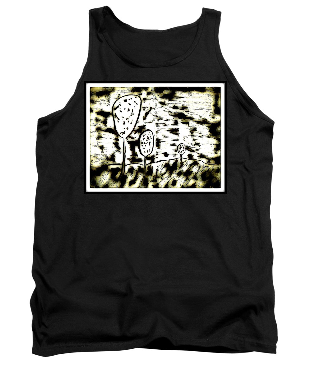 Ink Tank Top featuring the digital art Fun In Trees 6 by Mario MJ Perron