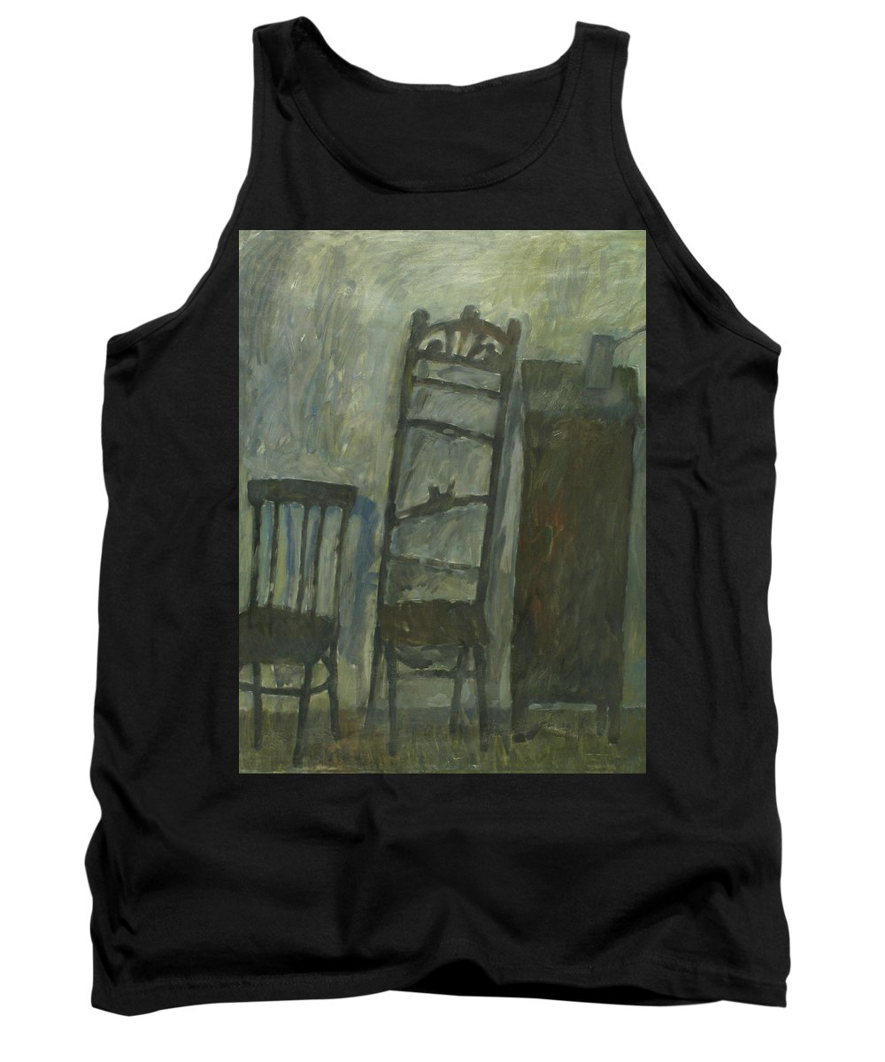 Old Furniture Tank Top featuring the painting Furniture by Robert Nizamov