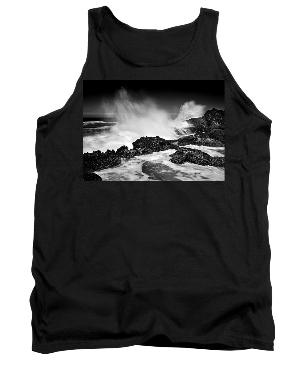 Waves Tank Top featuring the photograph Fury by Mike Dawson