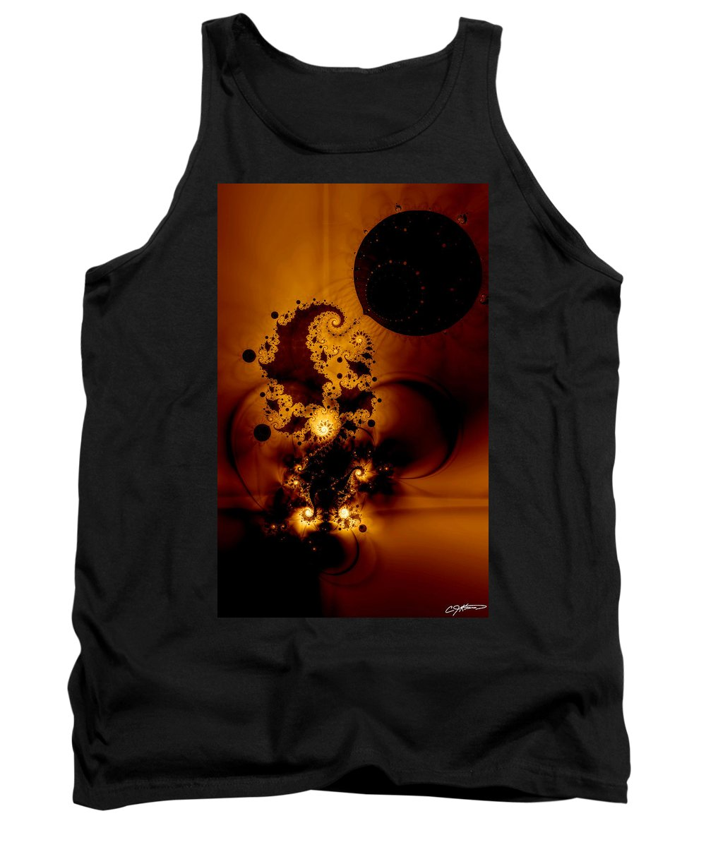 Fractal Tank Top featuring the digital art Galileo's Muse by Casey Kotas