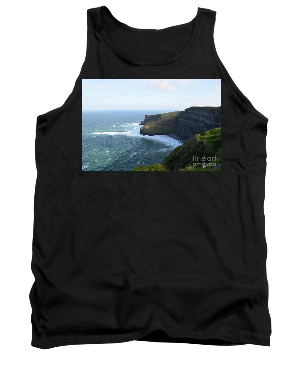 Cliffs-of-moher Tank Top featuring the photograph Galway Bay And Towering Cliffs Of Moher In Ireland by DejaVu Designs