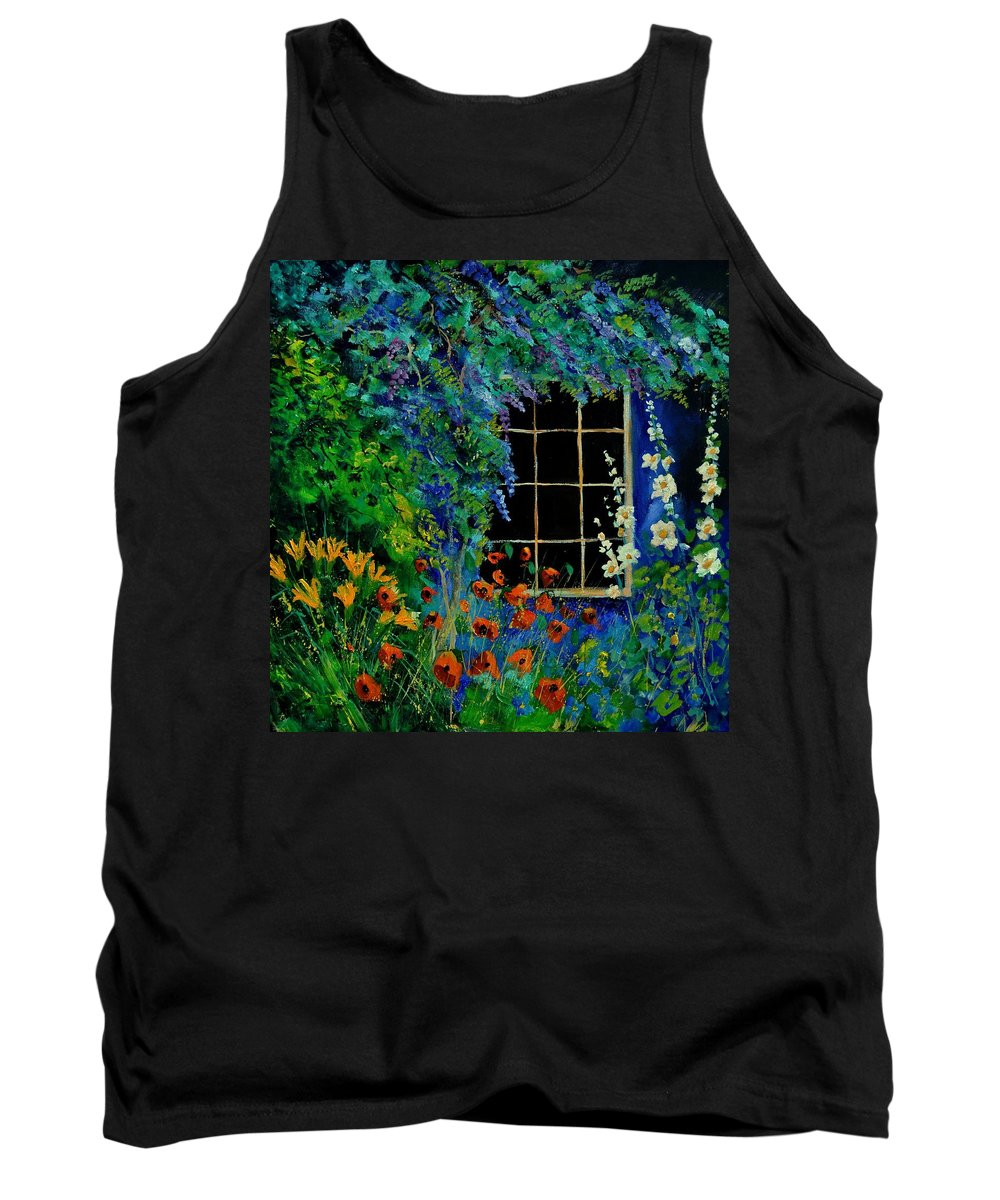 Flowers Tank Top featuring the painting Garden 88 by Pol Ledent