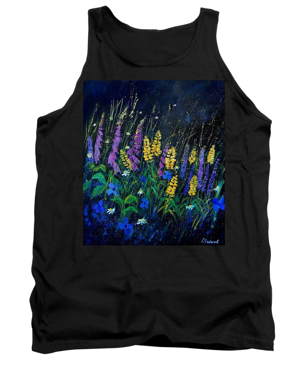 Flowers Tank Top featuring the painting Garden Flowers 679080 by Pol Ledent