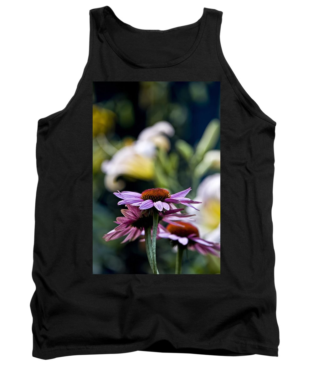 Echinacea Tank Top featuring the photograph Garden Flowers by Michael Cummings