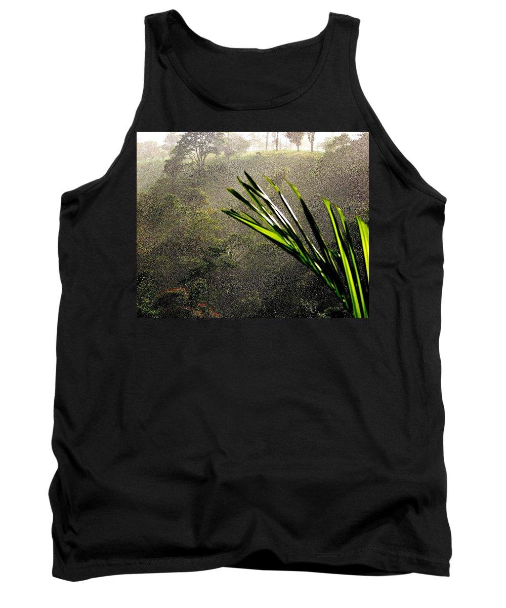 Rain Tank Top featuring the photograph Garden Of Eden Rain by Karen Wiles