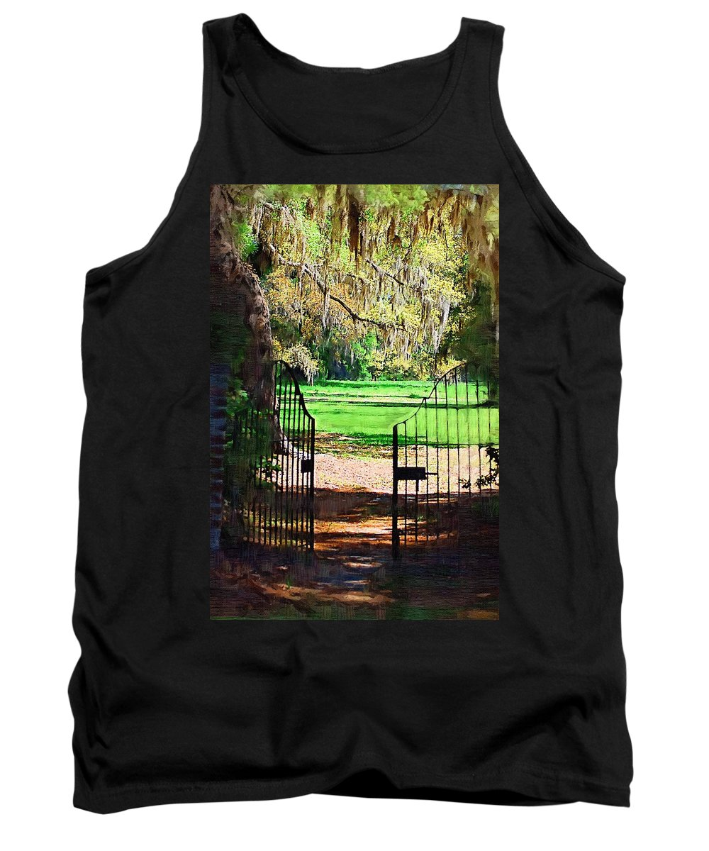 Gate Tank Top featuring the photograph Gate To Heaven by Donna Bentley