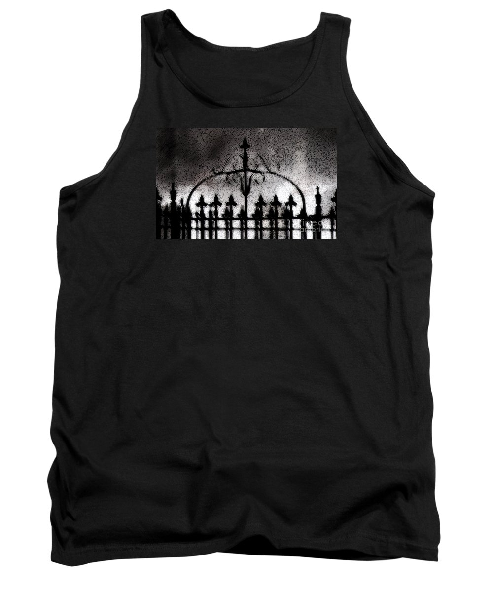 Night Tank Top featuring the photograph Gated by Linda Shafer