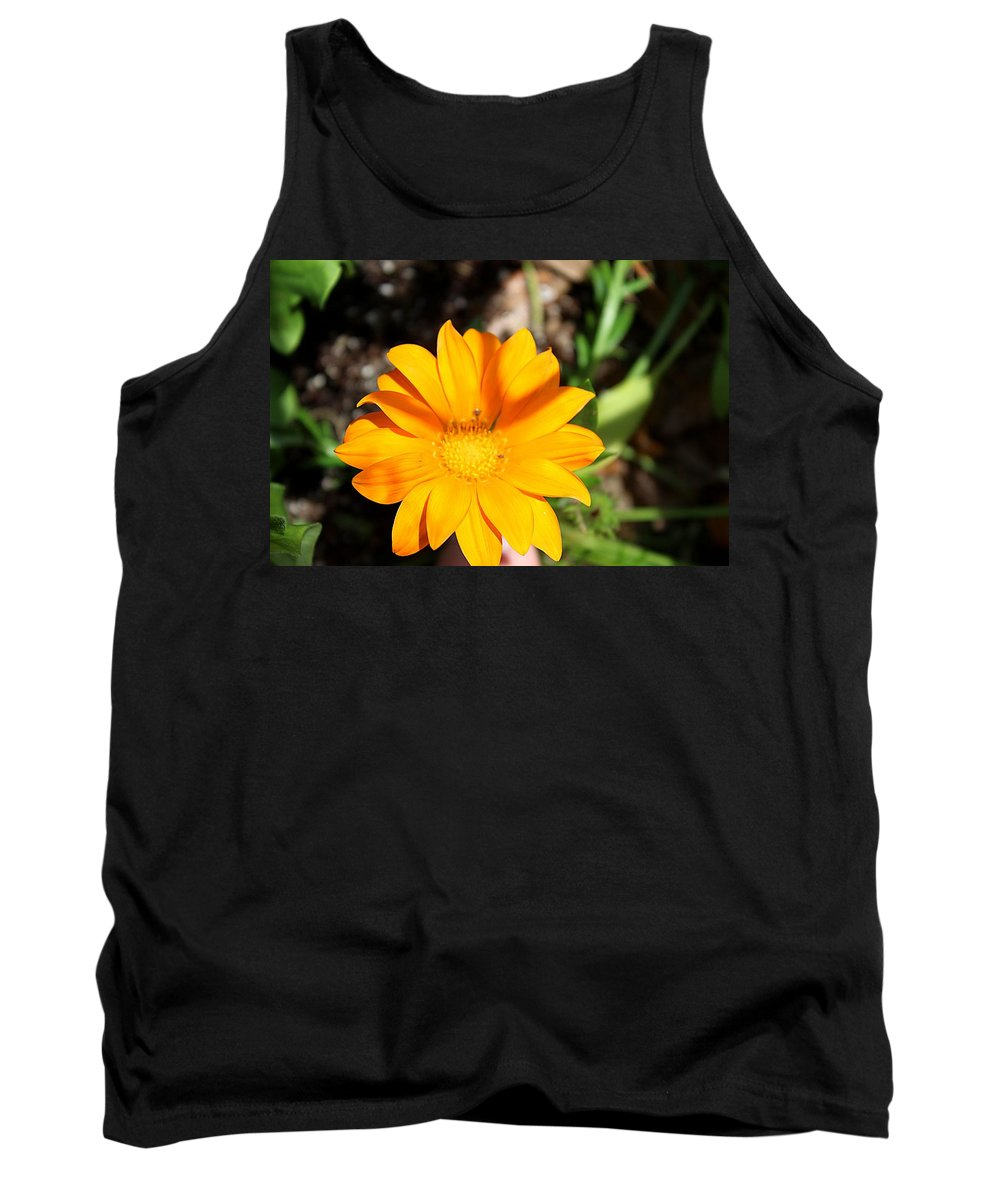 Flower Tank Top featuring the photograph Gazania by Susan Lotterer