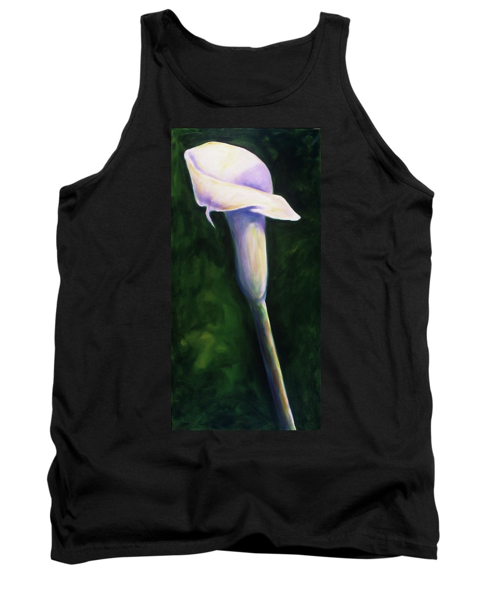Calla Lily Tank Top featuring the painting Gert by Shannon Grissom