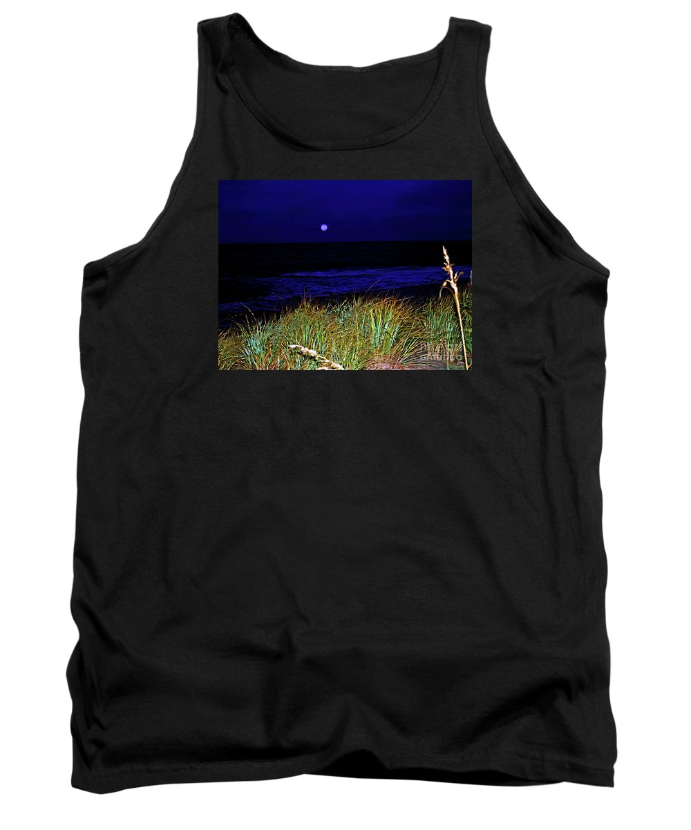 Fine Art Photography Tank Top featuring the photograph Ghost Moon by Patricia Griffin Brett